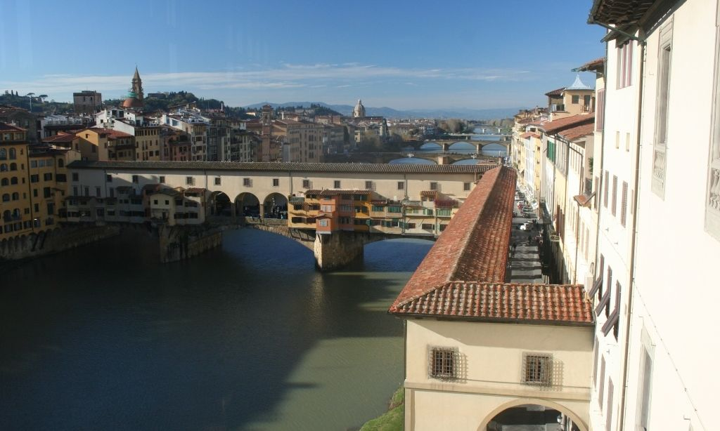 Mid of December View of Ponte Vecchio from Uffizi Gallery